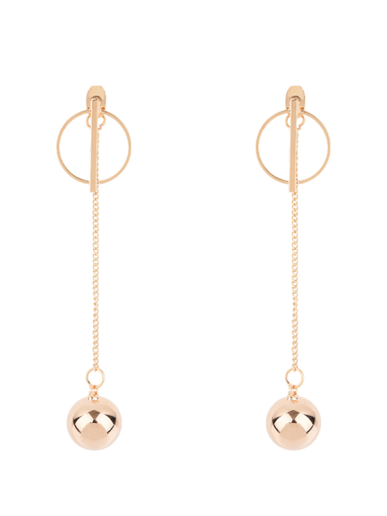 buy Circle Chain Ball Earrings - GOLDEN