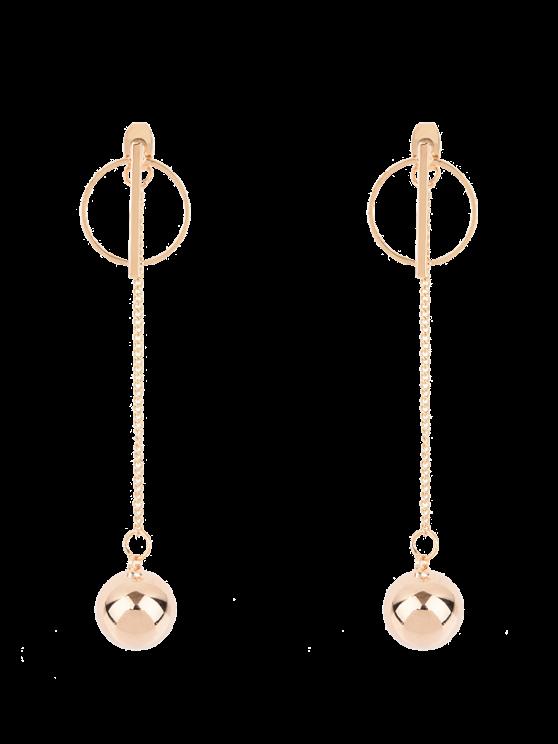 Pendientes de la bola de la cadena círculo - Dorado