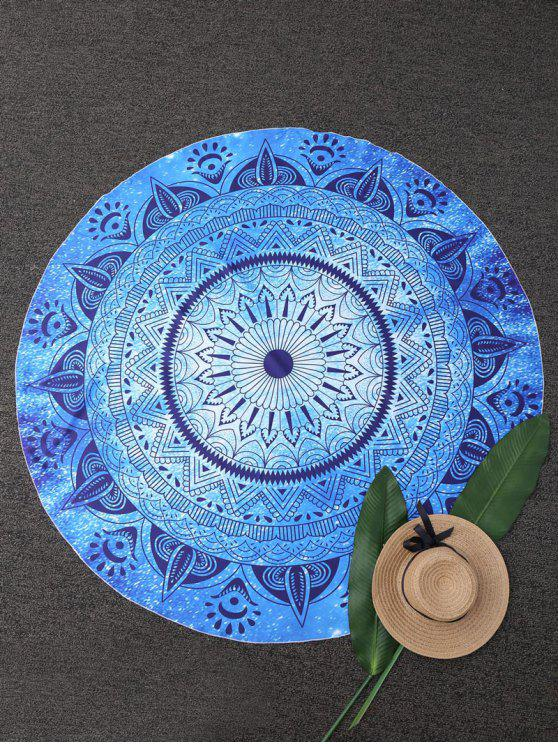 women Round Geometric Beach Throw - BLUE ONE SIZE