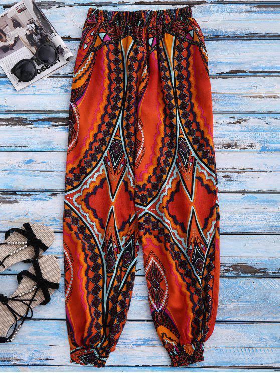 Pantalon décontracté imprimé - Multicolore M