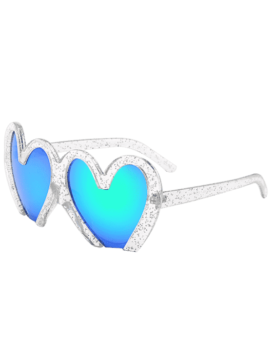 Lunettes de soleil de protection UV en forme de coeurs - Transparent