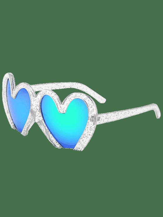 latest UV Protection Heart Sunglasses - TRANSPARENT