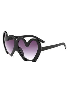 UV Protection Heart Sunglasses - Black