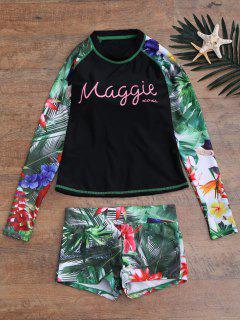 Tropical De La Impresión Gráfica Superior Y Cortocircuitos Del Juego - Negro M