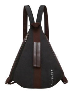 Casual Multifunction Canvas Backpack - Black