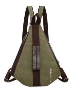 Casual Multifunction Canvas Backpack - Army Green