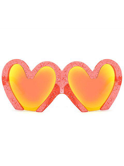fashion UV Protection Heart Sunglasses - RED  Mobile
