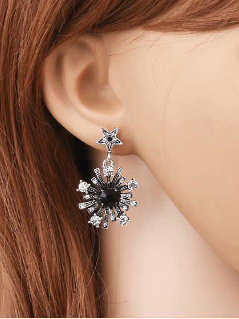 unique Rhinestone Moon Star Sun Earrings - SILVER  Mobile