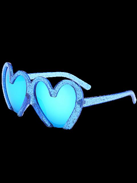 Lunettes de soleil de protection UV en forme de coeurs - Bleu  Mobile