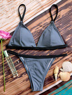 Bikinis Paddé Col Plongeant Bas En V - Gris M