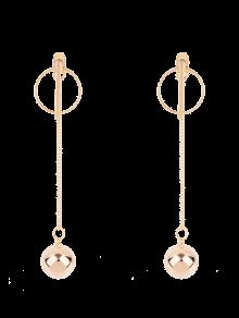 Circle Chain Ball Earrings - Golden