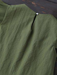 De De Ej Panel Verde Blusa Plisadas Del Capas La UwqfBq