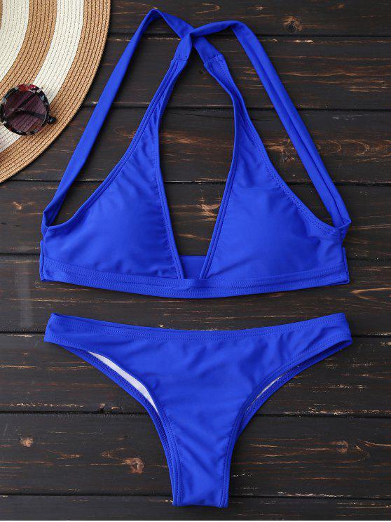 Tauchen Sie Crossover-Bikini-Satz - Blau XL