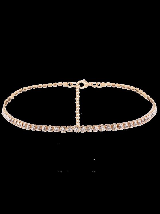 Collar Cadena Cristal - Dorado