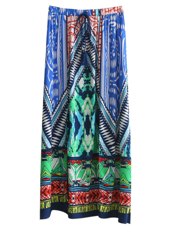 Hohe Slit Printed Maxirock - COLORMIX  S
