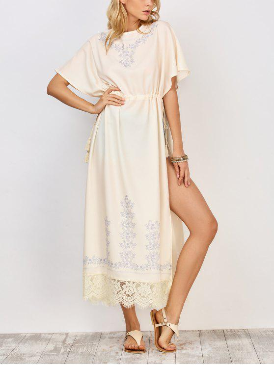 الرباط السامية الشق فستان ماكسي - أبيض M