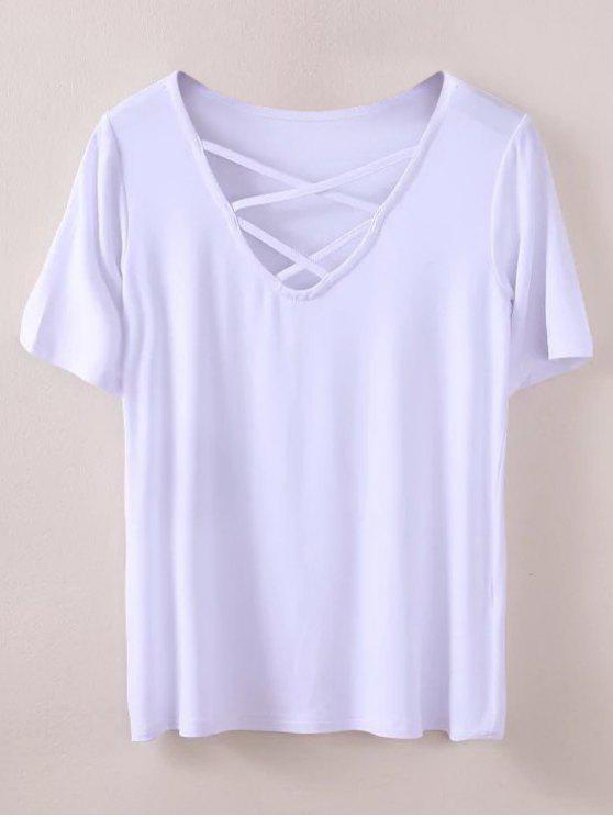 Camiseta Strappy - Blanco M
