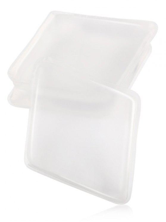 مانغ المعين الشكل سيليكون ماكياج خلاط - شفاف