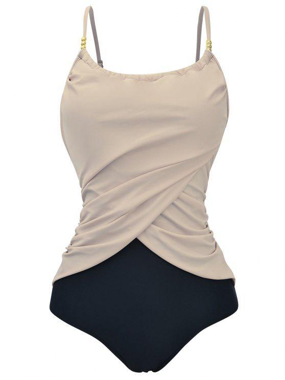 حزام السباغيتي مبطن زائد الحجم ملابس السباحة - ضوء الجمل 5XL