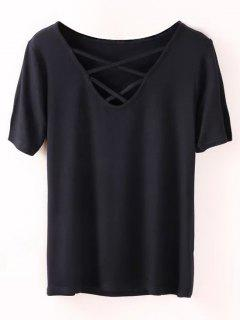 Strappy T-Shirt - Black M