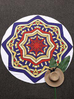 3D Geometric Pattern Mandala Beach Blanket