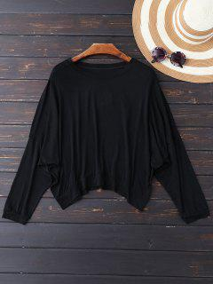 Oversized Cold Shoulder Top - Black L