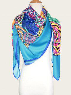 Vórtice Colorido Impresión Del Mantón - Lago Azul