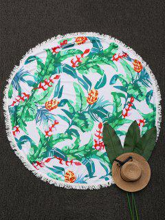 Ronda Throw Tropical Beach Con Flecos - Verde