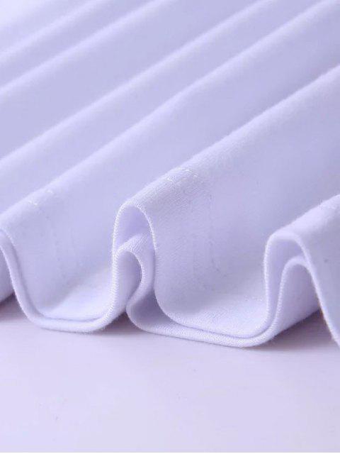 fashion Strappy T-Shirt - WHITE M Mobile