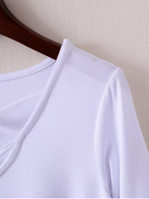 sale Strappy T-Shirt - CADETBLUE M Mobile