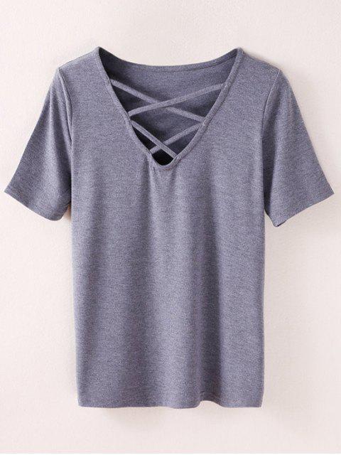 T-shirt à Lanières - Cendre M Mobile
