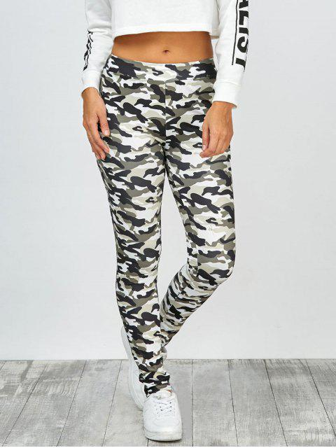 lady High Waisted Camo Leggings - JUNGLE CAMOUFLAGE M Mobile
