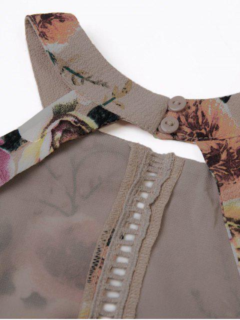 ladies Floral Backless Tie Back Ladder Dress - CAMEO L Mobile