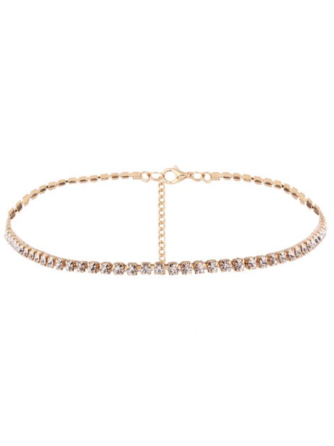 Collier en alliage et chaîne en  strass - Or  Mobile