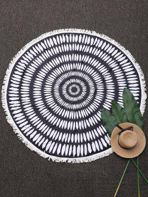 Couverture de plage ronde frangée imprimée