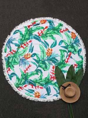 Ronda Throw Tropical Beach Con Flecos - Verde