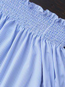 Y Hombro L De La Batas Blanco Blusa Azul Off YpFROx