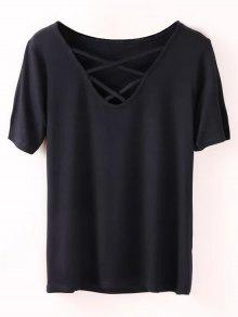 Strappy T-Shirt - Black S