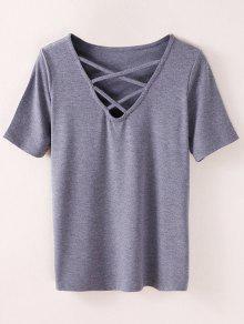 Strappy T-Shirt - Smoky Gray S