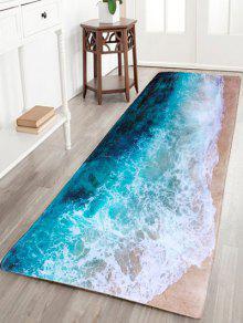 شاطئ البحر طباعة الفانيلا سكيدبروف امتصاص الماء السجاد - L120cm*w40cm
