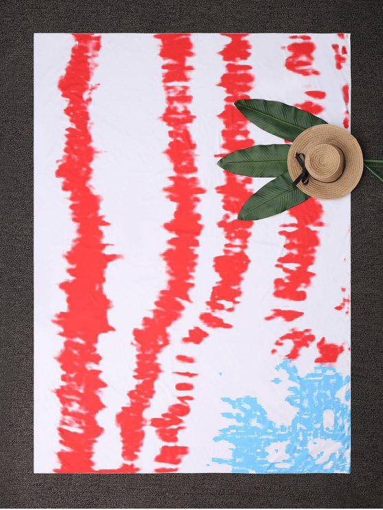 buy Square Tie-Dyed Beach Throw - RED ONE SIZE