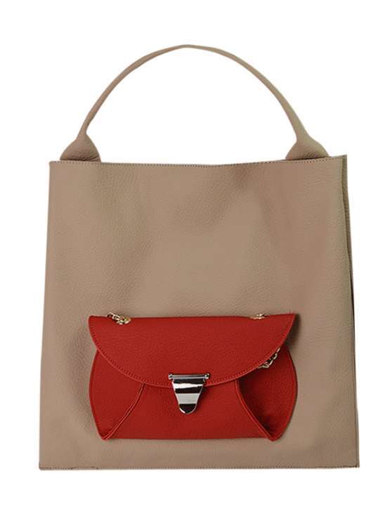 outfits Tote Bag with Removable Envelope Bag - APRICOT