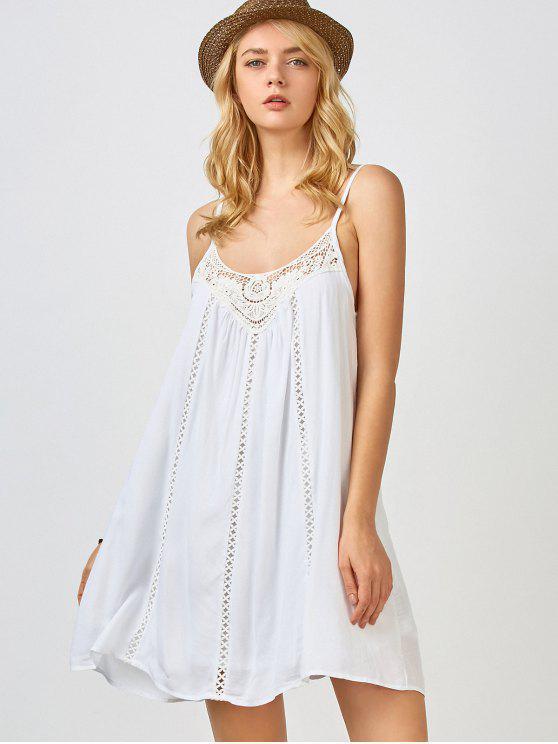Ajustable vestido de deslizamiento de las correas de trapecio - Blanco M