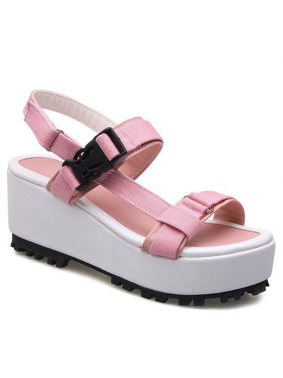 Sandales en plastique Plateforme Buckle - ROSE PÂLE 39