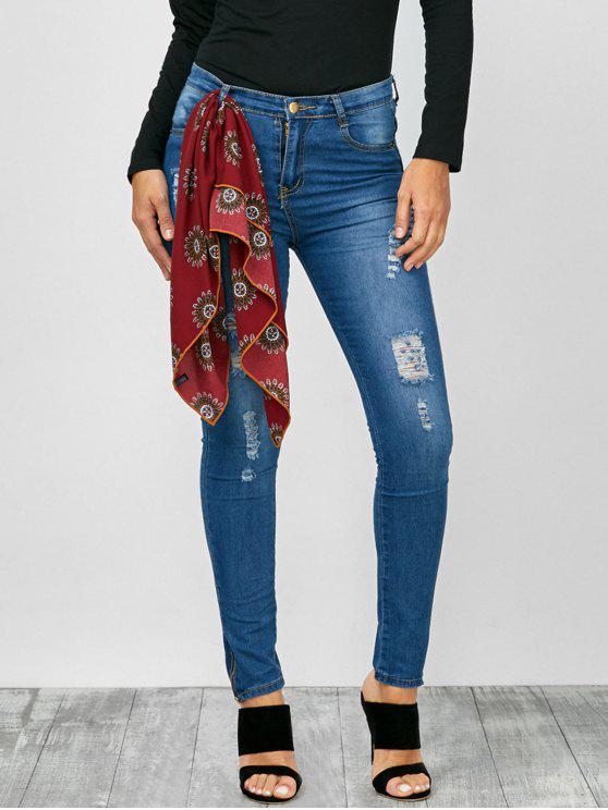 بنطلون جينز ضيق - أزرق M