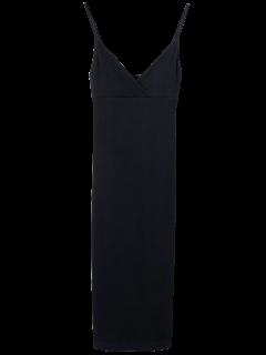Cami Plunging Neck Surplice Bodycon Dress - Black S
