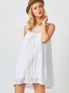 Mini Trapeze Summer Dress - White Xl