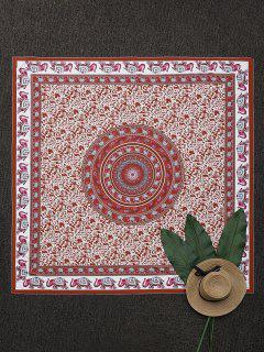 Throw Cuadrada Floral Havelock Island - Rojo