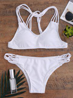 Cami Strappy Bikini Set - White L