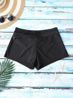 Drawstring Bikini Boxers - Black L